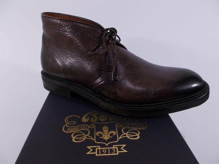 BOTTI scarpa uomo POLACCHINA pelle vitello MARRONE tg.8½(UK) 42½(IT) NIB