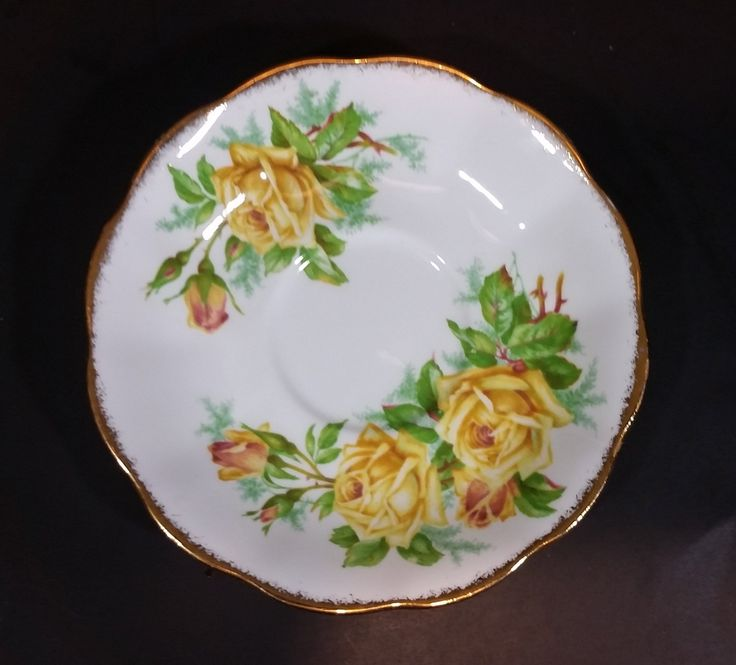 "1950s Royal Albert ""Tea Rose"" Yellow Bone China Saucer Plate 839056 https://treasurevalleyantiques.com/products/1950s-royal-albert-tea-rose-yellow-bone-china-saucer-plate-839057 #Vintage #1950s #50s #RoyalAlbert #Royalty #English #England #FineBoneChina #FineChina #BoneChina #TeaTime #Flowers #Floral #YellowRoses #Roses #Decor #DrinkTea #FancyTime #DrinkInStyle"