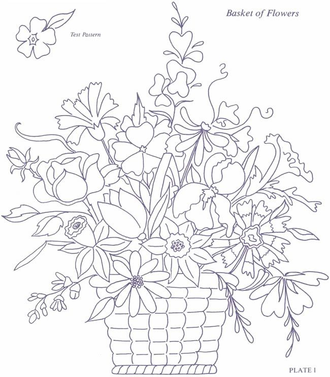 free coloring page from dover publications great for embroidery