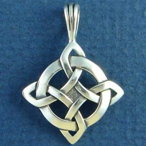 shield knot   Celtic Knot Pendant Shield of Luck Design Sterling Silver Photo Main
