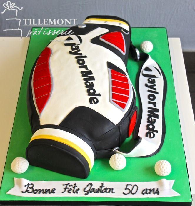 Taylor Made golf bag Sports Cakes | Patisserie Tillemont | Montreal #golf #tigerwoods #taylormade