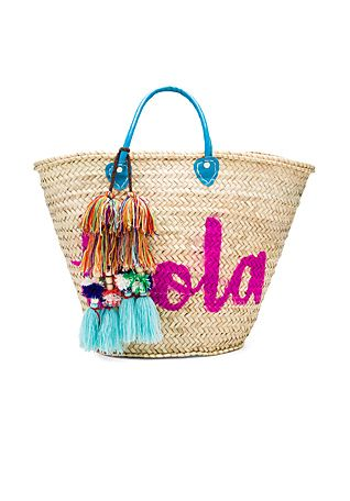MISA Los Angeles Marrakech 'Hola' Bag in Turquoise | REVOLVE