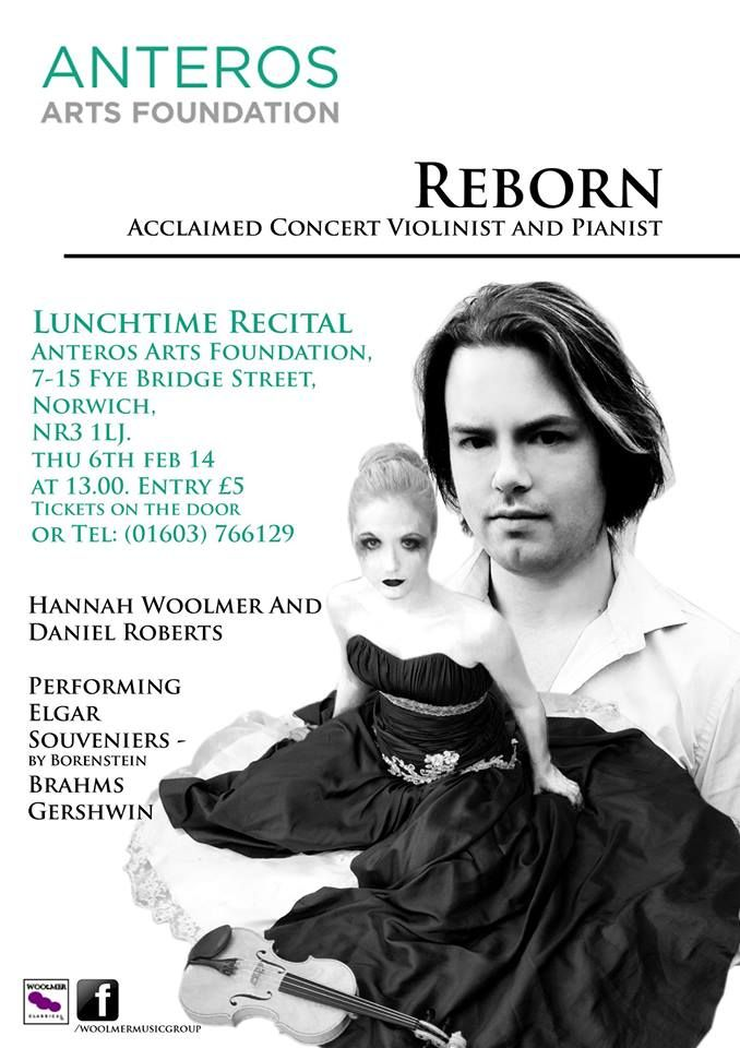 Lunchtime Recital @anterosarts Thursday 6th February