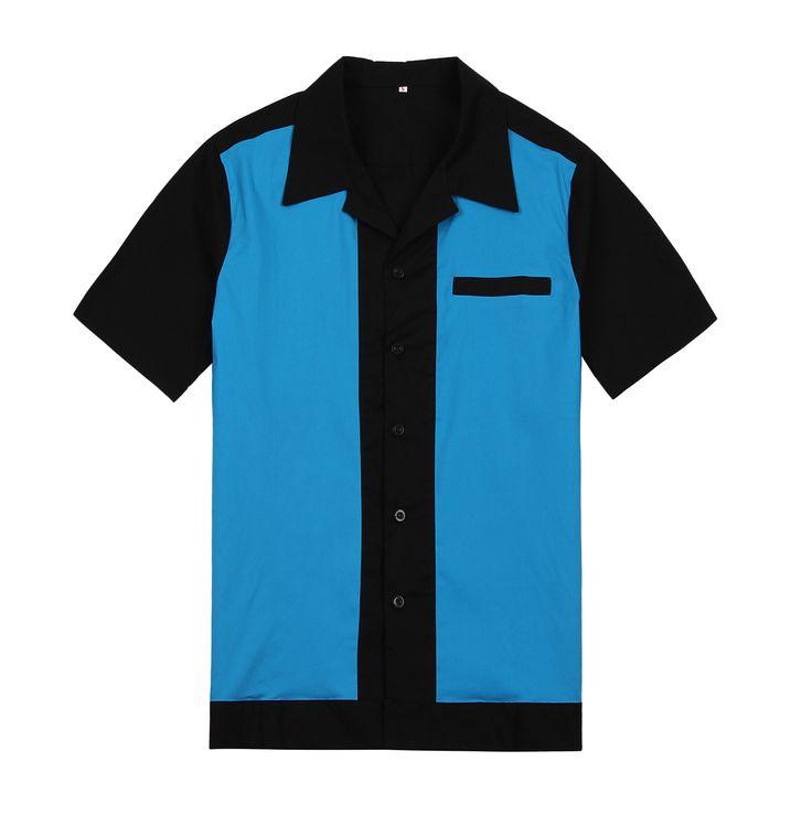 Camisas en línea del partido rockabilly camisa más tamaño ropa de los hombres…