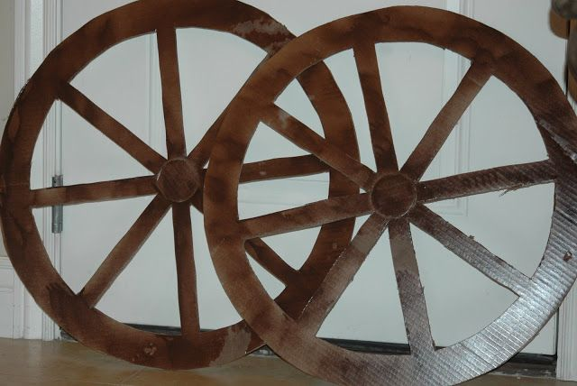 How to make a wagon wheel out of cardboard, Another simple wall decor that won't take much time
