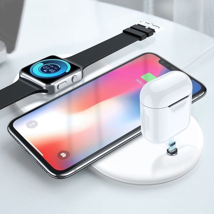 3 in 1 wireless charger 10w for iphone x xs max apple