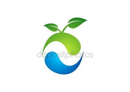 #Ecology #nature #plant #logo #apple #water #spring #landscape #circle #droplet #agriculture #symbol #icon #vector #design #illustration #conceptual - https://depositphotos.com/portfolio-3904401.html?ref=3904401