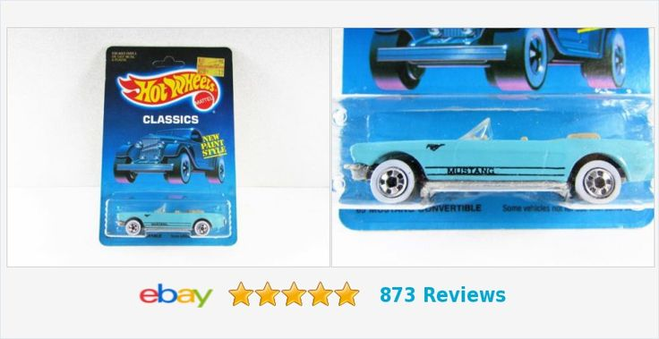 #Vintage Hot Wheels 65 #Mustang #Convertible NIP Unpunched Card Light Blue | eBay #hotwheels