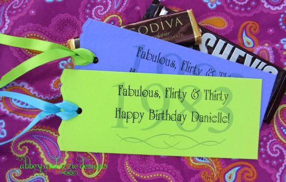 30th Birthday Party Favors. $53.70, via Etsy.