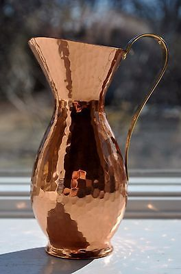 Zint-Hand-Hammered-Copper-Pitcher-or-Vase-German-Mid-Century-Mod-Bauhaus