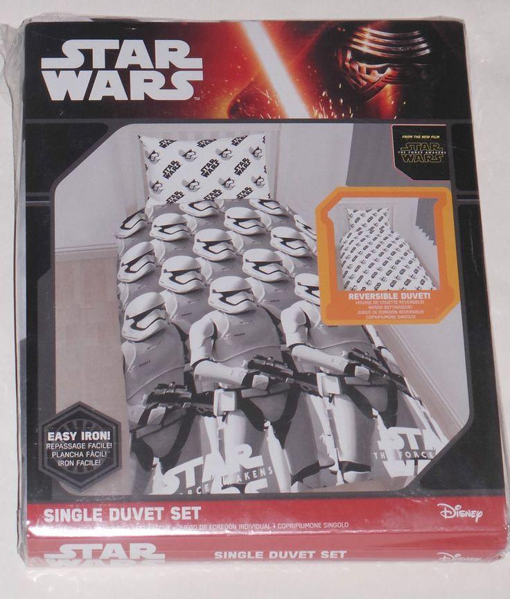 Disney Star Wars NEW Single Bed Reversible Duvet Cover Set The Force Awakens
