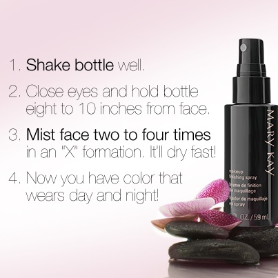 So you got your hands on our coveted new Mary Kay® Makeup Finishing Spray by Skindinävia®, huh? Here are some tips on how to use it to give your look staying power to last for hours! www.marykay.com/amymathes