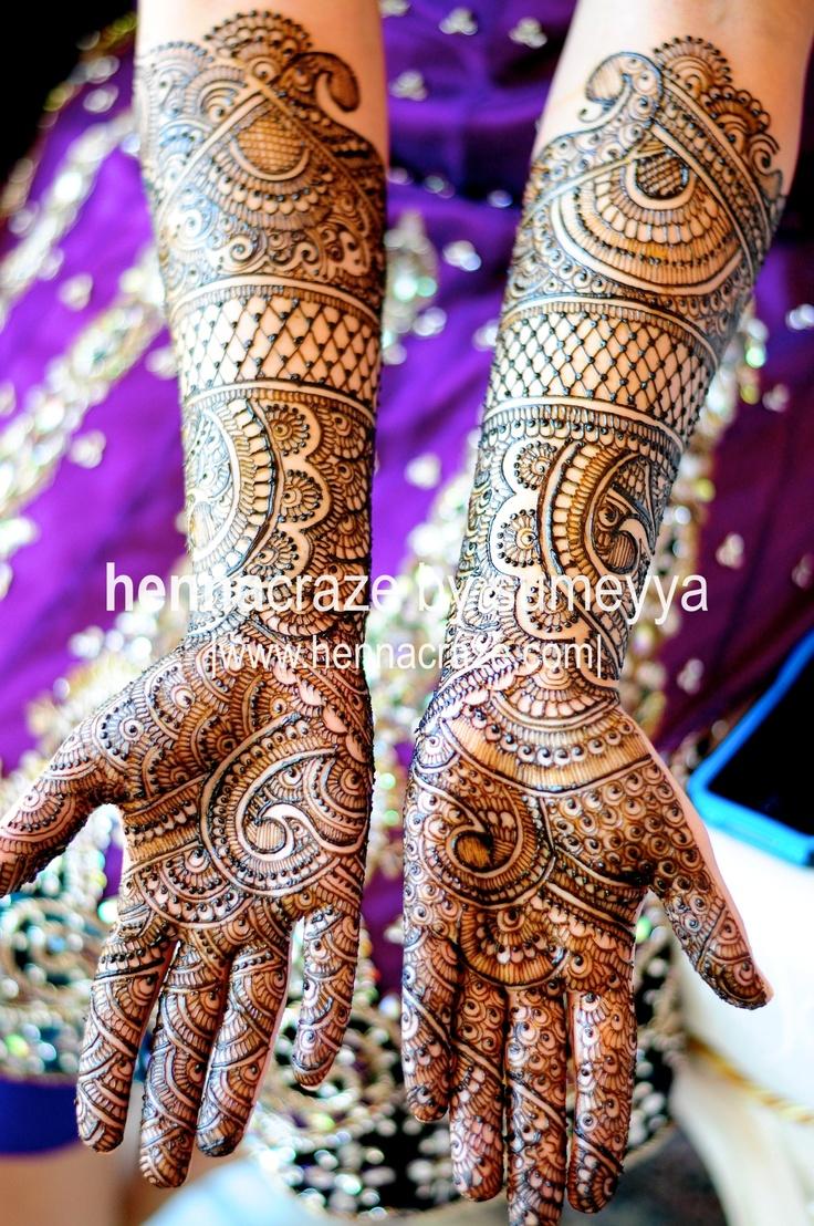 Indian bridal henna by Sumeyya Rehman of Henna Craze  www.hennacraze.com