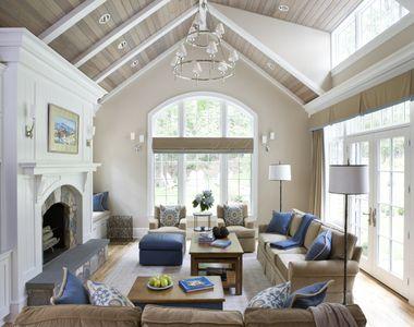 Image Result For Nantucket Living Room Vaulted Ceiling Living Room Living Room Ceiling Great Rooms