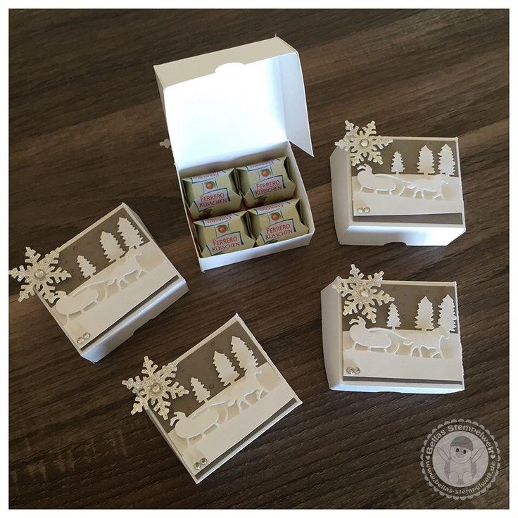 Stampin' Up! - Ferrero Küsschen Verpackung - Bellas Stempelwelt - Schlittenfahrt
