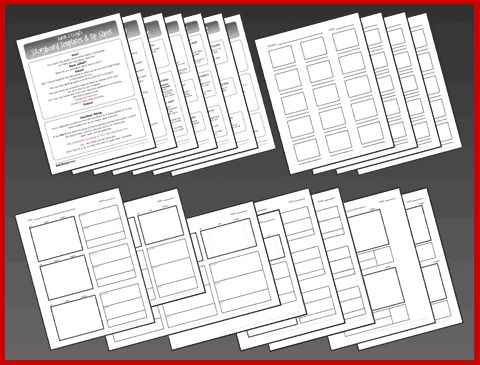Storyboard Template Pack and Tip Sheet