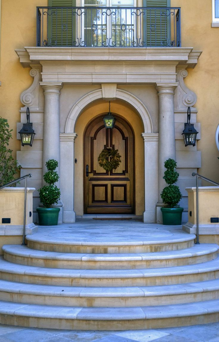 419 best house images on pinterest mini pool jacuzzi for Mediterranean style front doors