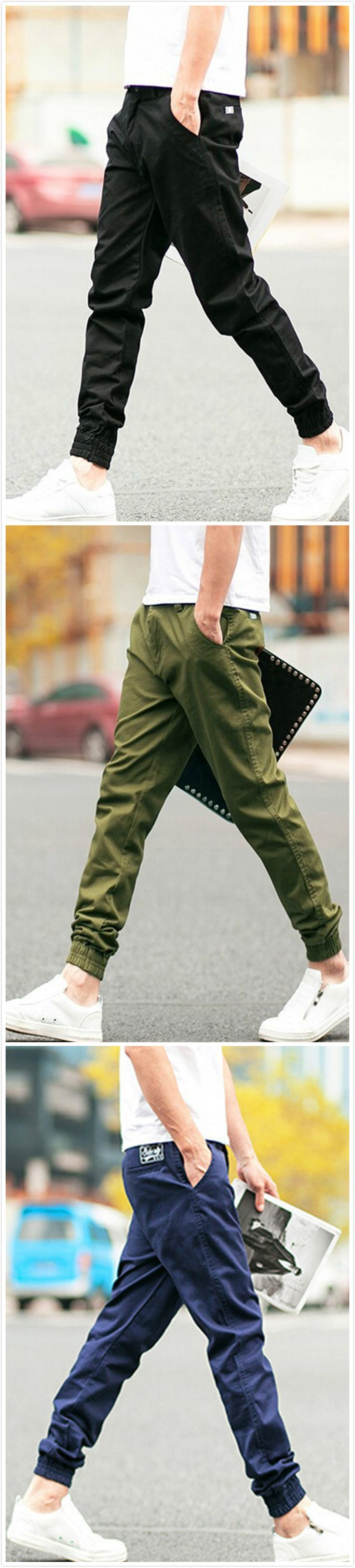 All-Matching Cropped Cuffed Casual Slim Fit Man Pants