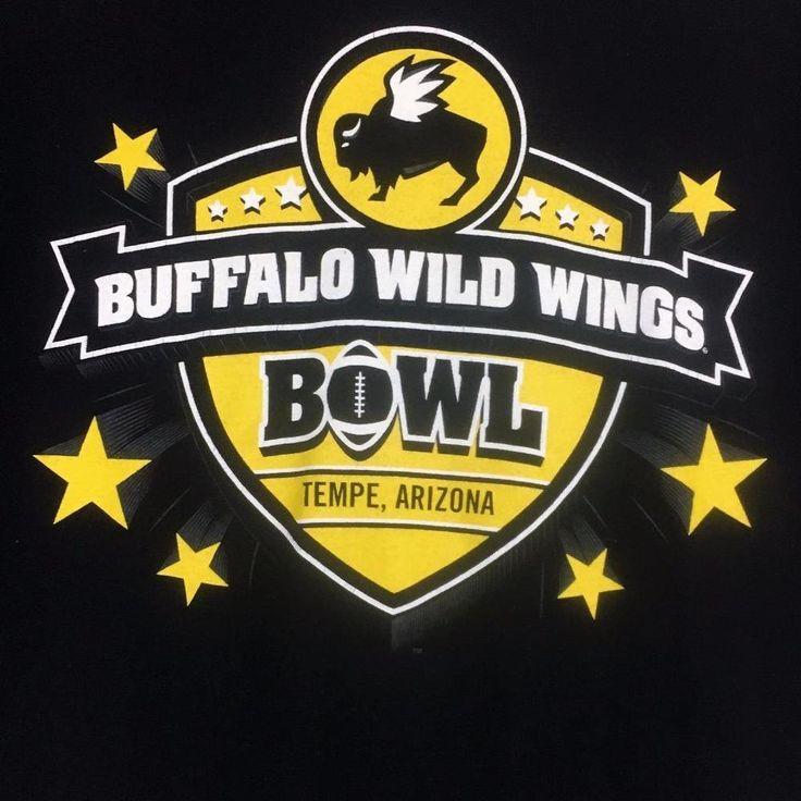 Buffalo Wild Wings Black T Shirt L Short Sleeve Football Bowl Tempe Arizona #AlstyleApparelActivewear #GraphicTee