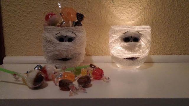 Los mundos de Esthercita: Portavelas o dulcero Halloween