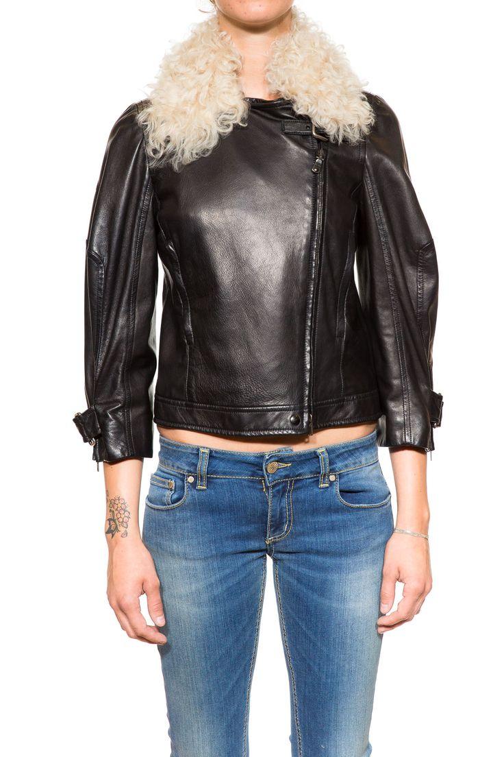 Miu Miu!  Giubbotto Donna/Women's Leather Jacket, Nero/Black, Size 40-IT   Find it now at: shop.salvagentemilano.it