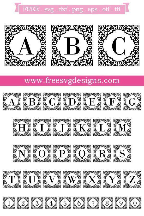 K Monogram Svg Free : monogram, Files, Square, Ornate, Monogram, Fonts,