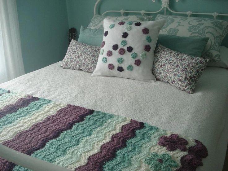 cubre cama - tejido | crochet - macramé | Pinterest