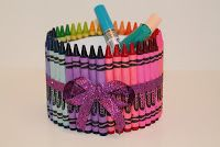 Solace Amid the Chaos: Easy Teacher / Aide Gift: CRAYON CONTAINER