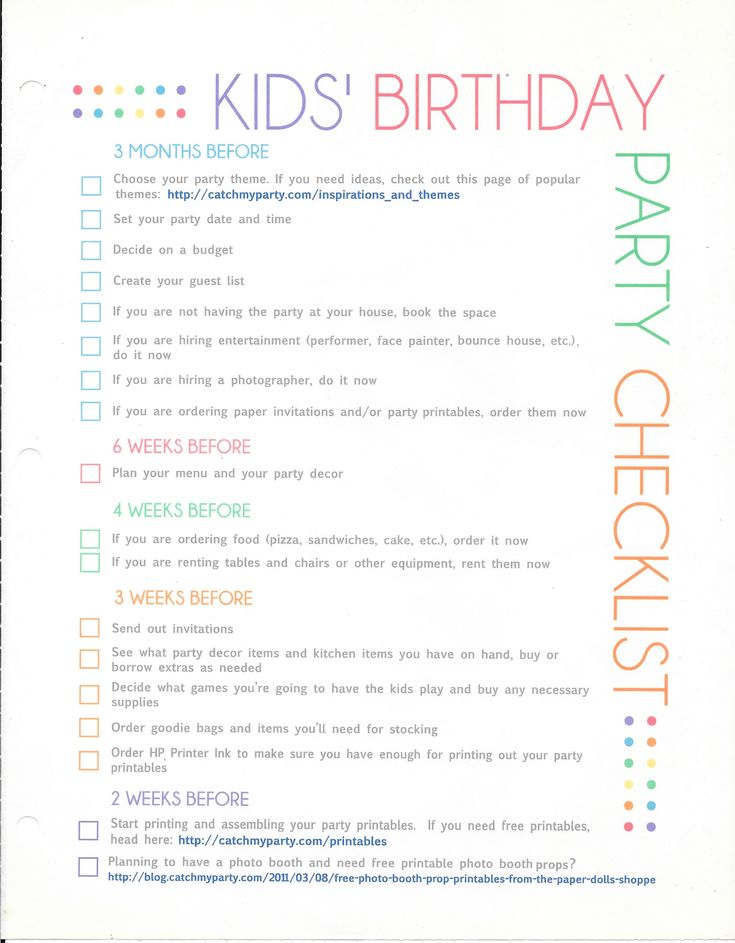13 best party planning images on Pinterest Birthdays, Party - birthday party guest list