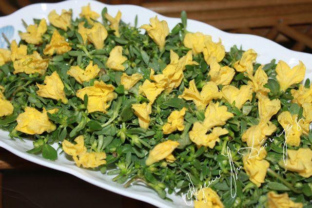 Salatalık çiçeği ve semiz otu salatası | Marifetli Bloglar | Lezzetli Sofralar