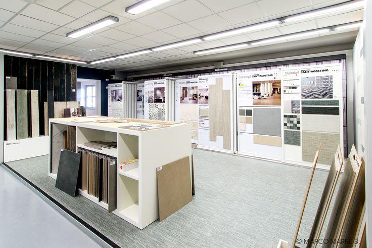 Wide range of samples and attention for the customer: here's Fidra #showroom in Campi, near #Genoa.  #CeramicaSantAgostino #designtiles #design #tiles #interiordesign #interiors #gres #ceramic