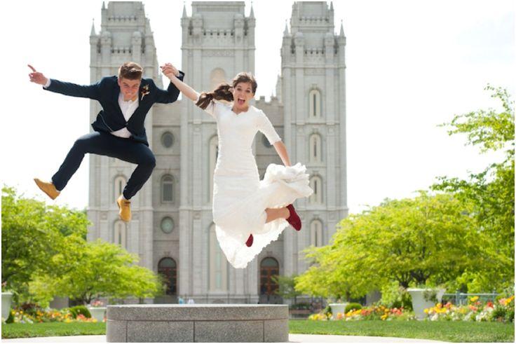Salt Lake Temple Wedding Inspiration | LDS Wedding | Modest Wedding Dress | Real…