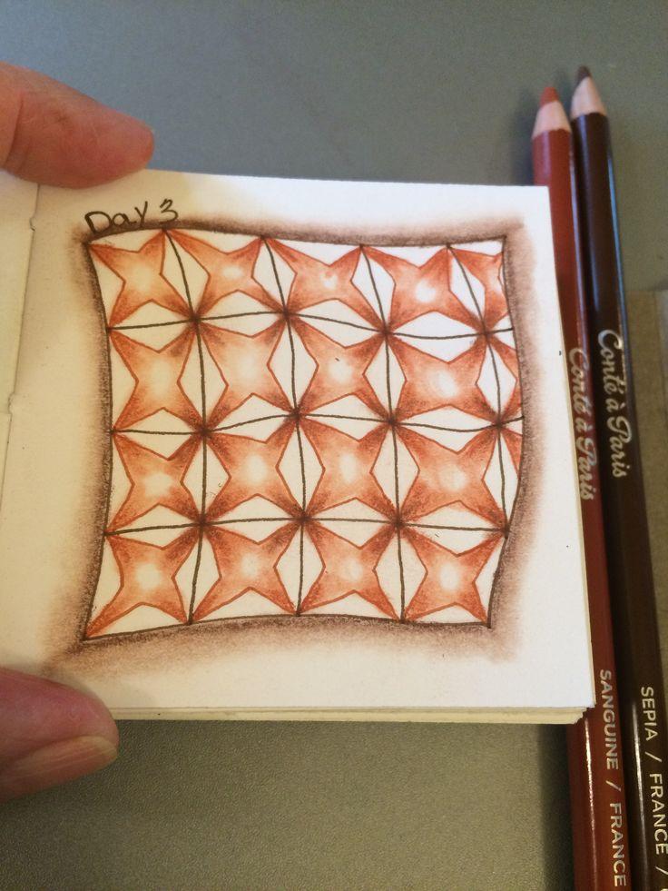 | Zentangle | Zenart | Zendoodle | the100dayproject | I Teach Tangling | Tangling | Diamond Bales |