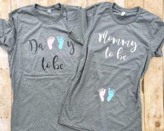 Pregnancy Reveal shirts Couples pregnancy Announcement