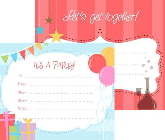 Download this Let's Get Together Party Invitations and other free printables from MyScrapNook.com