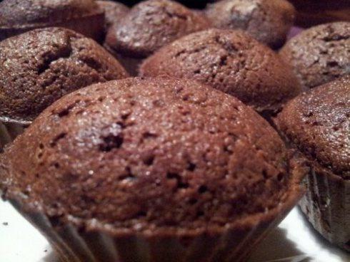 kokosmeel choco muffins