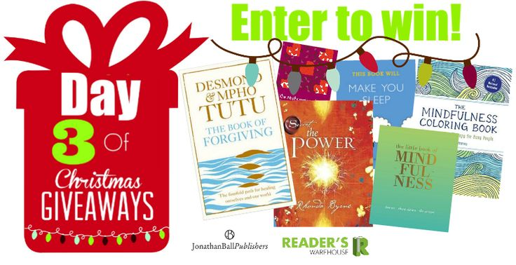 Day 3 of Christmas Giveaways from @JonathanBallPub  is the perfect hamper for those who need a bit of mindfulness in their lives. Let Desmond & Mpho Tutu teach you why forgiveness is so important, gain some much needed mindfulness with The Little Book of Mindfulness & The Mindfulness Colouring Book and broaden your understanding of love and the power of positive thinking with The Power by Rhonda Byrne & The Mathematics of Love by Hannah Fry. Enter here:  http://bit.ly/Day3Hamper