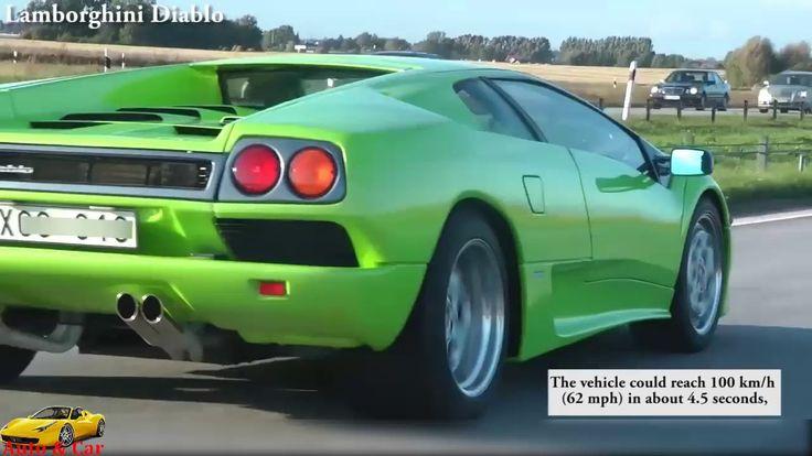 Ferrari F40 vs Porsche 959 vs Lamborghini Diablo - Sound Exhaust Acceler...