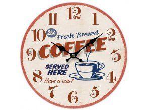 Nástěnné hodiny Coffee, 34 cm