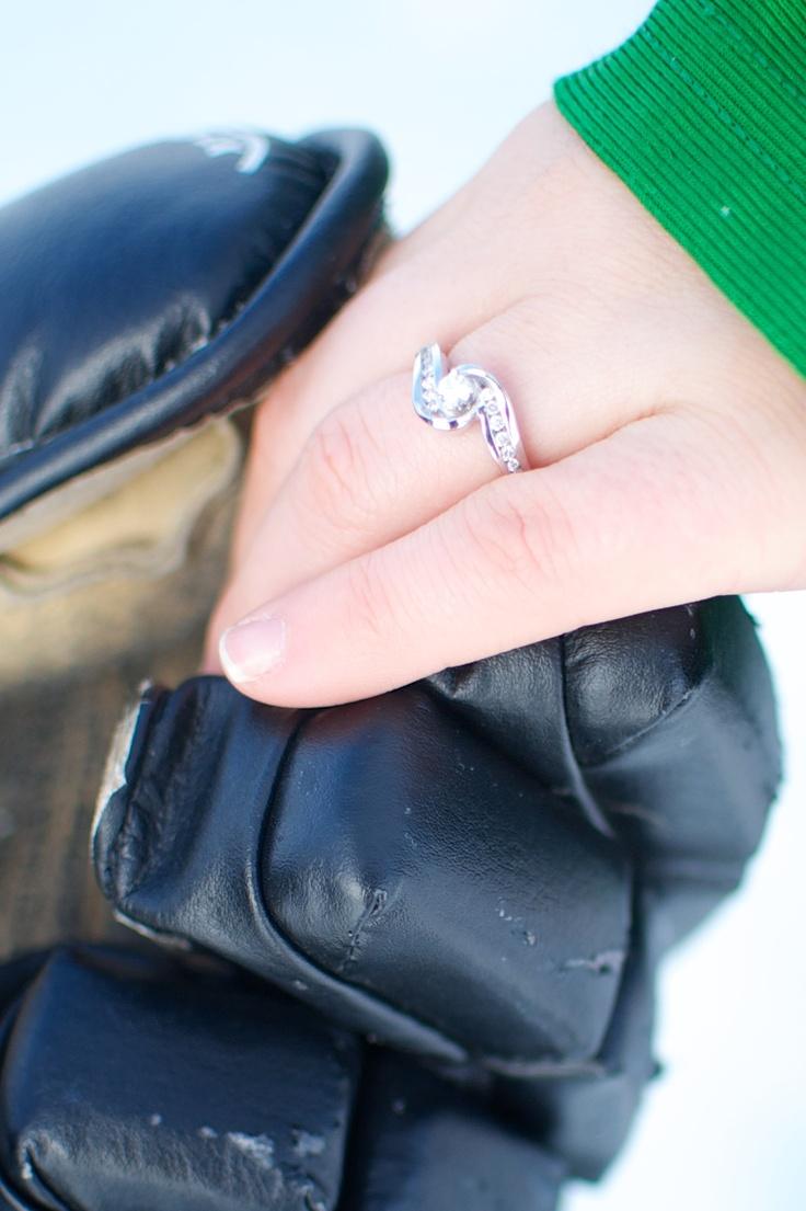 Hockey girlfriends dream... Only a bigger diamond.