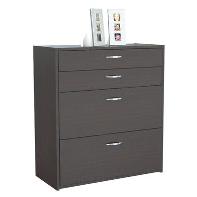 Inval Four Drawer Storage/Filing Cabinet in Espresso Wenge | Wayfair