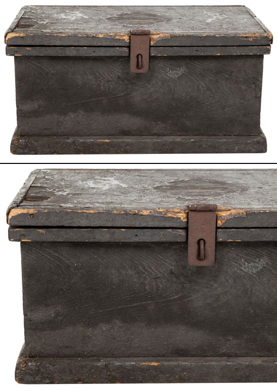 Distressing Paint Raw Vintage Painted Wood Box