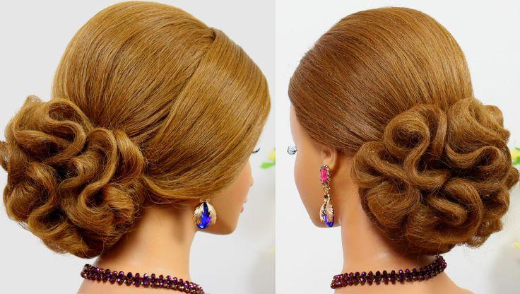 Updo hairstyles. Wedding prom hairstyles for medium hair. Bridal hairstyles
