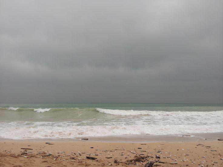La spiaggia di Mezzavalle d' inverno.