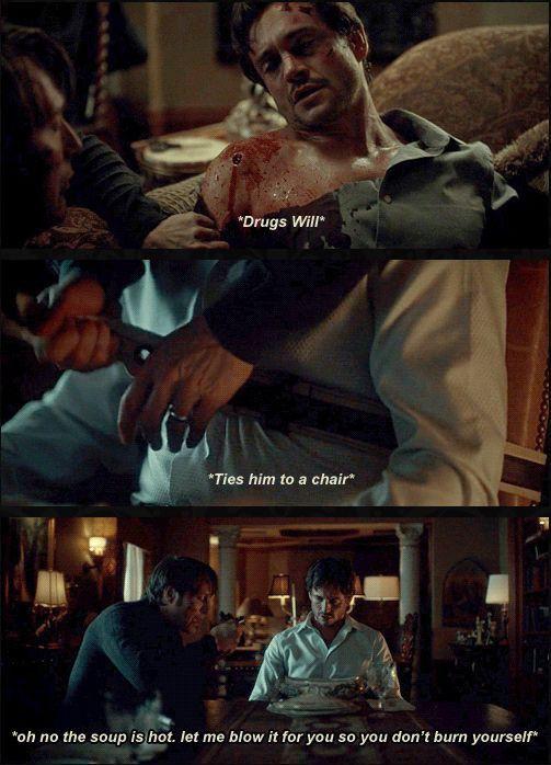 Hannibal needs to work on his romantic date night skills.