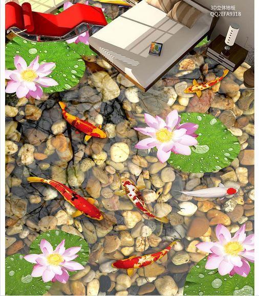 Индивидуальные 3d обои 3d пол живописи обои Дома больной еще раз для 3 d цветок каменный пол салон Пол живопись