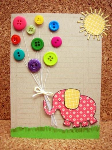 """Cute """"balloons"""" card"""