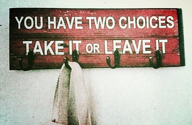 take it or...