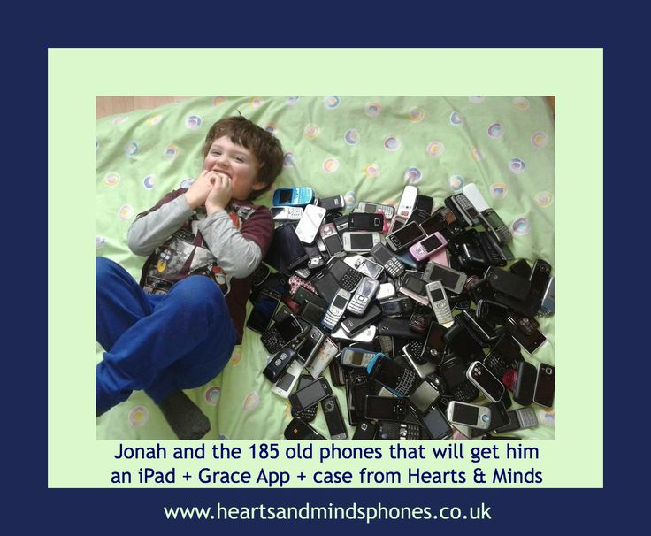 Another completed collection of old phones to be swapped for an iPad! #autism