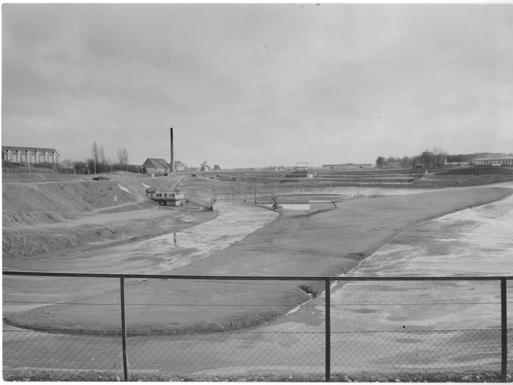 View of the track - facing south. (Probably 1956)